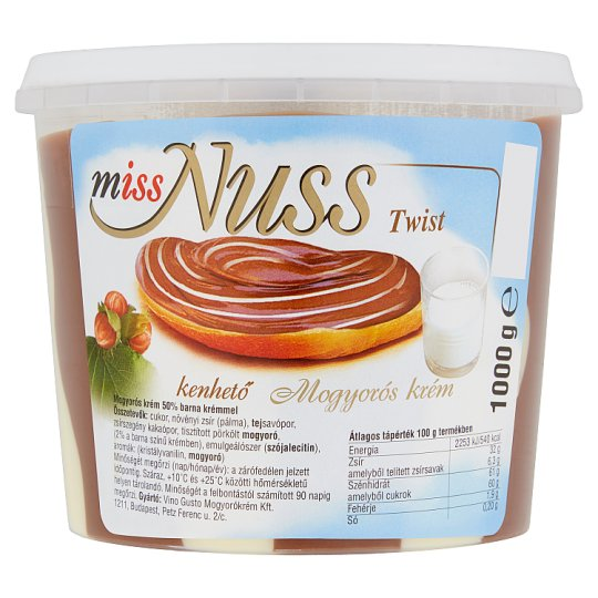 Miss Nuss Twist Hazelnut Spread 1000 g