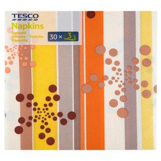 Tesco Napkins 3 Plies 33 cm 30 pcs