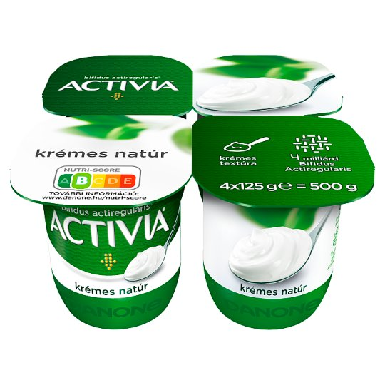 Danone Activia Unflavoured Yoghurt with Live Cultures 4 x 125 g