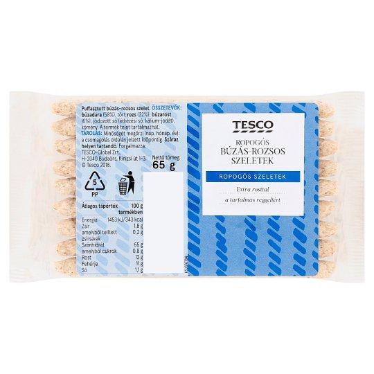 Tesco Crunchy Puffed Wheat-Rye Slices 65 g
