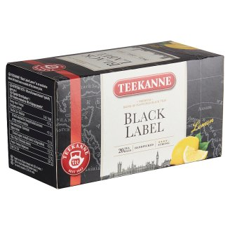 Teekanne Black Lemon Black Tea Blend with Concentrated Lemon Juice and Vitamin C 20 Tea Bags 33 g