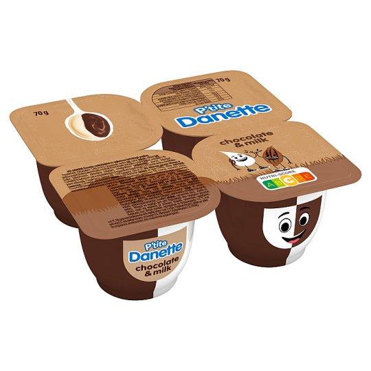 Danone Danette Chocolate and Milk Cream Flavoured Pudding 4 x 70 g
