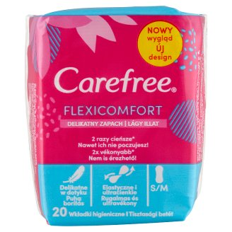 Carefree FlexiComfort Pantyliners with Cotton Feel Fresh Scent 20 pcs