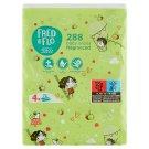 Tesco Fred & Flo nedves, illatosított baba törlőkendők 4 x 72 db