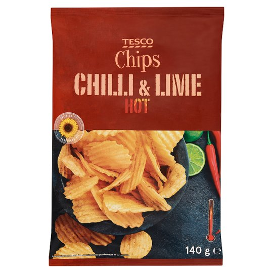 Tesco Chili and Lime Hot Chips 140 g