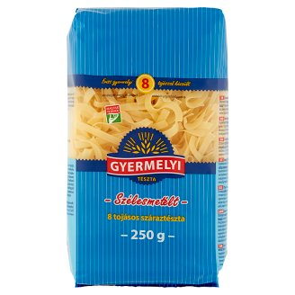 Gyermelyi Wide Noodles Dry Pasta with 8 Eggs 250 g