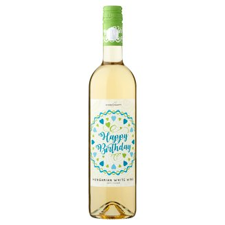 Wine Concept Happy Birthday Debrői Hárslevelű klasszikus félédes fehérbor 11,5% 0,75 l