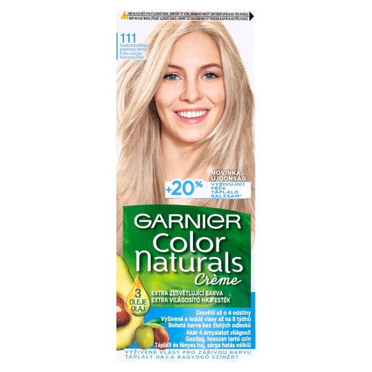 image 1 of Garnier Color Naturals Crème 111 Extra Bright Bloomy Blonde Extra Lightening Hair Colorant