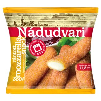 Nádudvari Quick-Frozen, Pre-Fried Breaded Mozzarella Snack 350 g