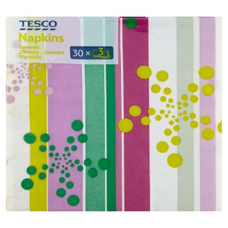 Tesco Napkins 3 Plies 33 cm 30 pcs