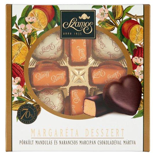 Szamos Margaréta Desszert mandulamarcipán csokoládé bevonattal 8 db 100 g