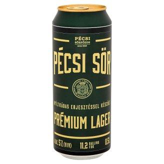 Pécsi Sör Prémium Lager Beer 5% 0,5 l