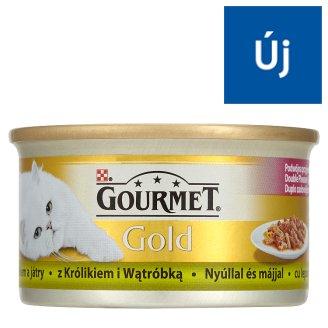 Gourmet Gold teljes értékű állateledel felnőtt macskák részére nyúllal és májjal 85 g