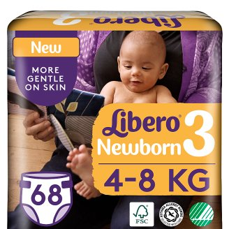 Libero Newborn 3 4-8 kg Premium Nappies 68 pcs