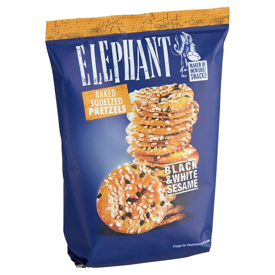 Alka Elephant Squeezed Pretzels with Black and White Sesame 80 g