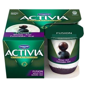 Danone Activia Fusion élőflórás joghurt áfonya-acai bogyó öntettel 4 x 125 g