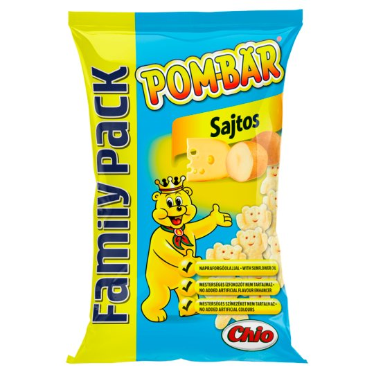 Pom-Bär Cheese Flavoured Potato Snack 100 g