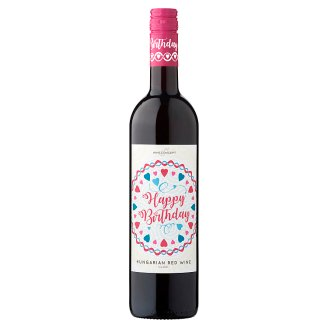 Wine Concept Happy Birthday Felső-Magyarországi Medina Sweet Hungarian Red Wine 11% 0,75 l