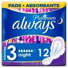 Always Platinum Night Szárnyas Egészségügyi Betét (3-es Méret), 12 db