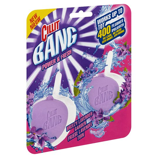Cillit Bang Power & Fresh Breezy Lavender Garden tok nélküli WC blokk levendula illattal 2 x 40 g