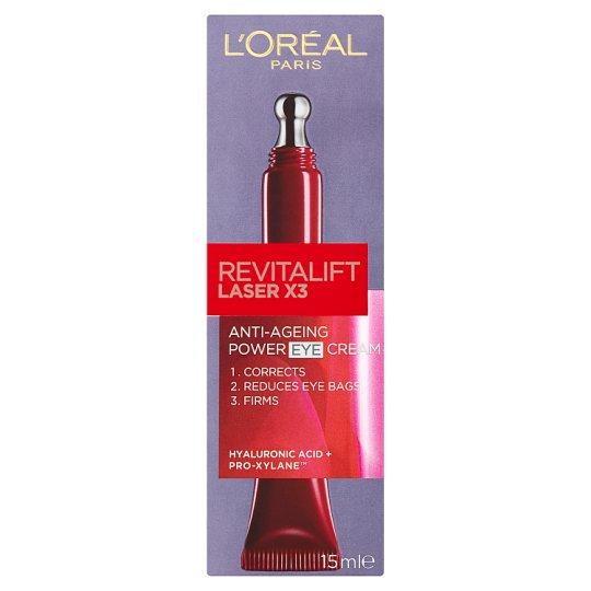 image 1 of L'Oréal Paris Revitalift Laser X3 Anti-Ageing Power Eye Cream 15 ml