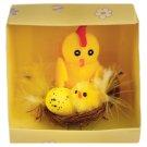 Chicks in Nest 6 x 7 x 7 cm Mix Designs
