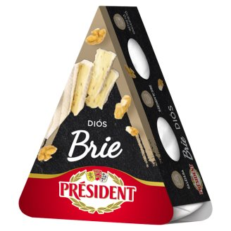 Président Brie Veined Full-Fat Soft Cheese with Walnuts 125 g