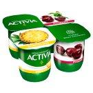 Danone Activia élőflórás, zsírszegény ananászos és meggyes joghurt 4 x 125 g
