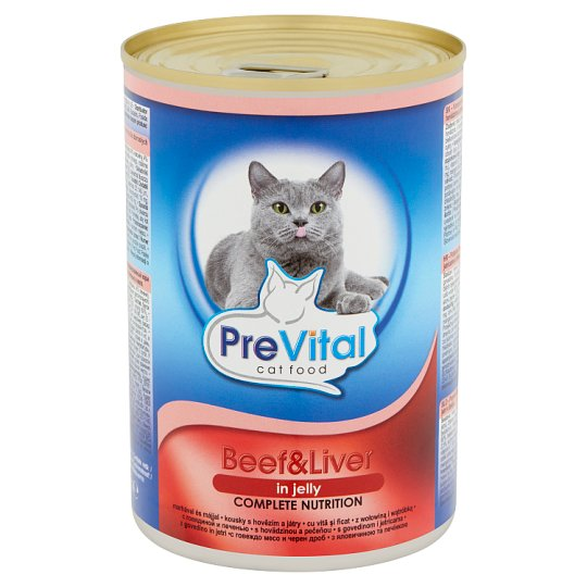 PreVital Complete Food for Adult Cats with Beef and Liver 415 g