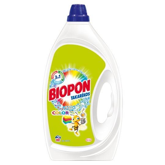Biopon Takarékos Color Liquid Detergent for Colourful Clothes 60 Washes 3 l