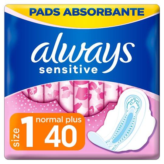 Always Ultra Sensitive Normal Egészségügyi Betét (1-es Méret), 40 db