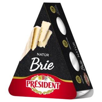 Président Brie natúr zsírdús, fehér nemespenésszel érlelt lágy sajt 125 g