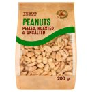 Tesco Peeled, Roasted & Unsalted Peanuts 200 g