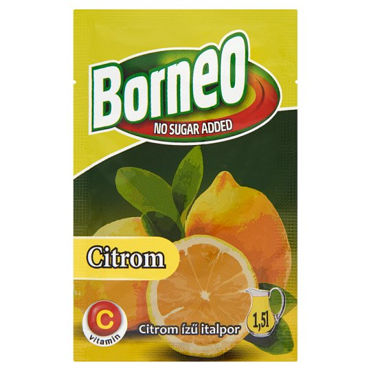 Borneo Lemon Flavoured Drink Powder with No Added Sugar with Sweetener 9 g