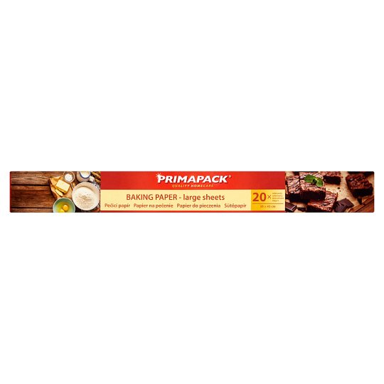 Primapack Pre-Cut Baking Paper 33 x 45 cm 20 pcs
