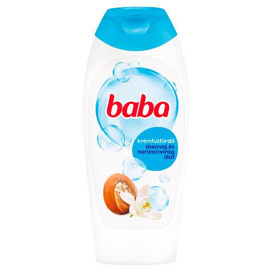 Baba Caring Shower Gel with Shea Butter and Orange-Flower 400 ml