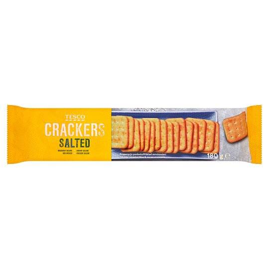 Tesco Salted Crackers 180 g