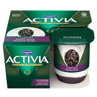 Danone Activia Fusion élőflórás joghurt aszalt szilvás öntettel 4 x 125 g