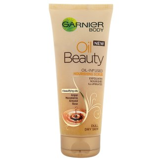 Garnier Body Oil Beauty olajjal gazdagított tápláló bőrradír 200 ml