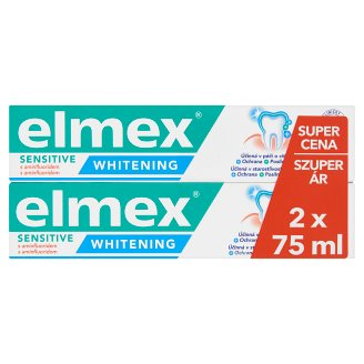 elmex Sensitive Whitening Toothpaste 2 x 75 ml