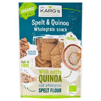 Dr. Karg's BIO tönkölybúza és quinoa teljes kiőrlésű ropogós kenyér-snack 110 g