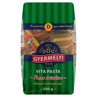 Gyermelyi Vita Pasta Vegetable Penne Durum Wheat Dry Pasta 500 g