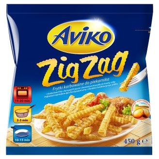 Aviko Zig Zag elősütött és gyorsfagyasztott cikcakkos hasábburgonya sütőbe 450 g