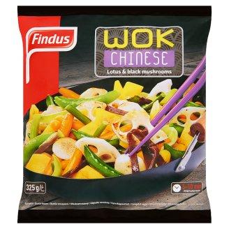 Findus Wok Chinese gyorsfagyasztott enyhén fűszerezett wok zöldségkeverék 325 g