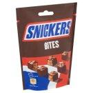 Snickers Bites karamellás földimogyorós krémes szeletek földimogyoróval tejcsokoládéba mártva 136 g
