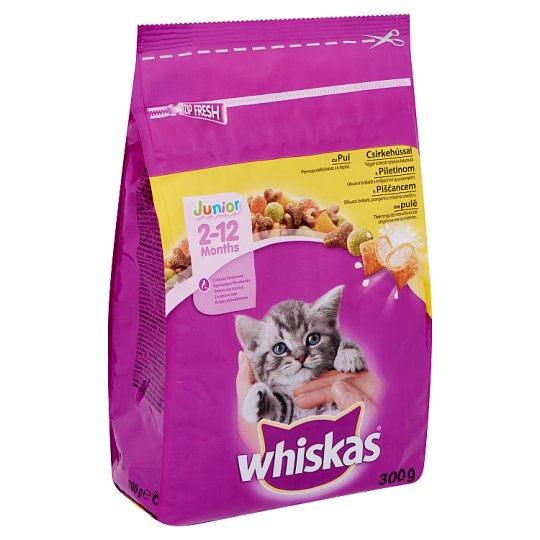 Whiskas Junior Complete Pet Food for Junior Cats with Chicken 300 g