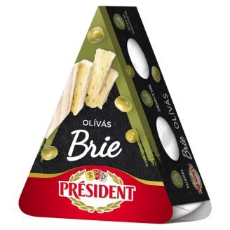 Président Brie Full-Fat Veined Soft Cheese with Olives 125 g