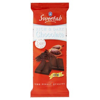 Sweetab Dietetic Dark Chocolate with Sweeteners 60 g