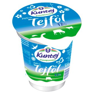 Kuntej Kunsági Semi-Fat Sour Cream with Live Culture 10% 300 g