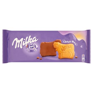 Milka Choco Moo Biscuits with Bottom Dipped in Alpine Milk Chocolate Coatings 200 g